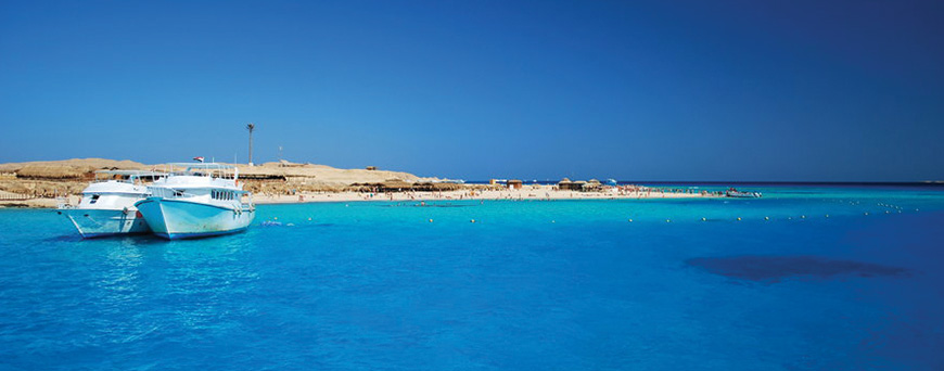 hurghada beach view from the sea in egypt