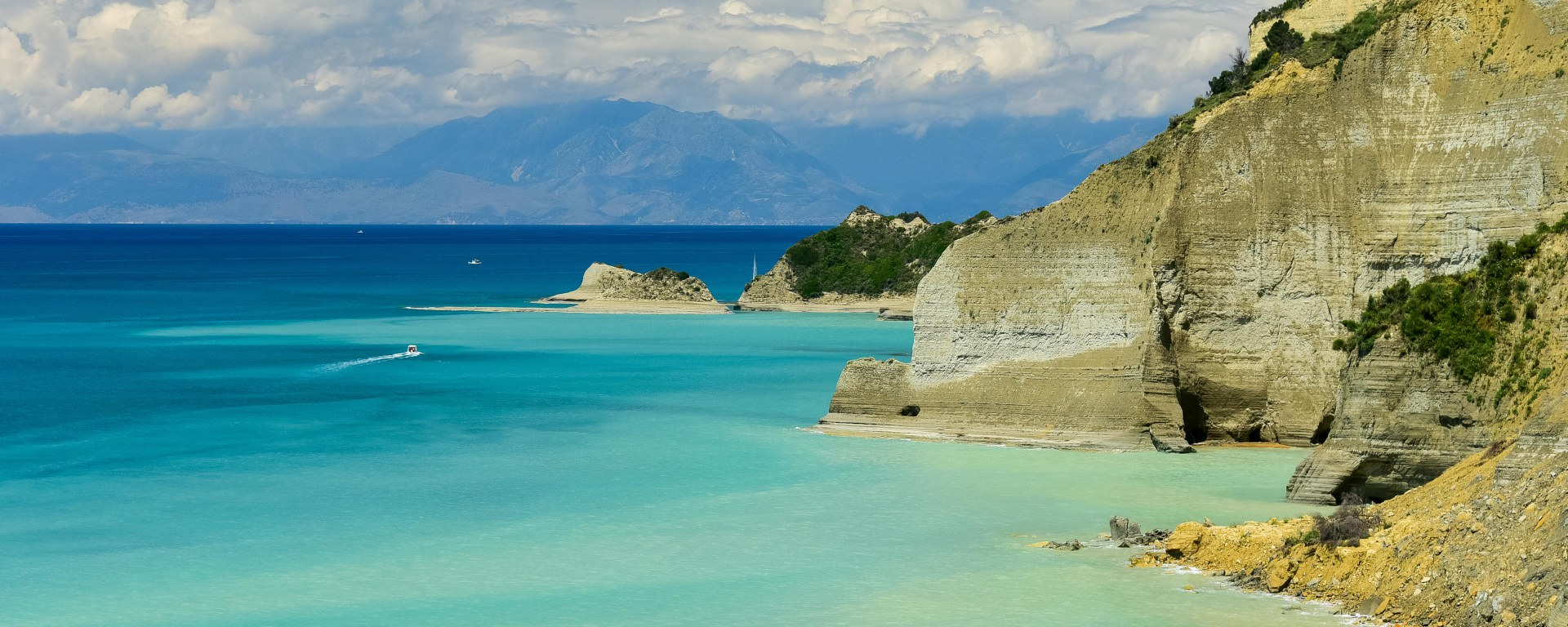corfu beach and sea view in greece