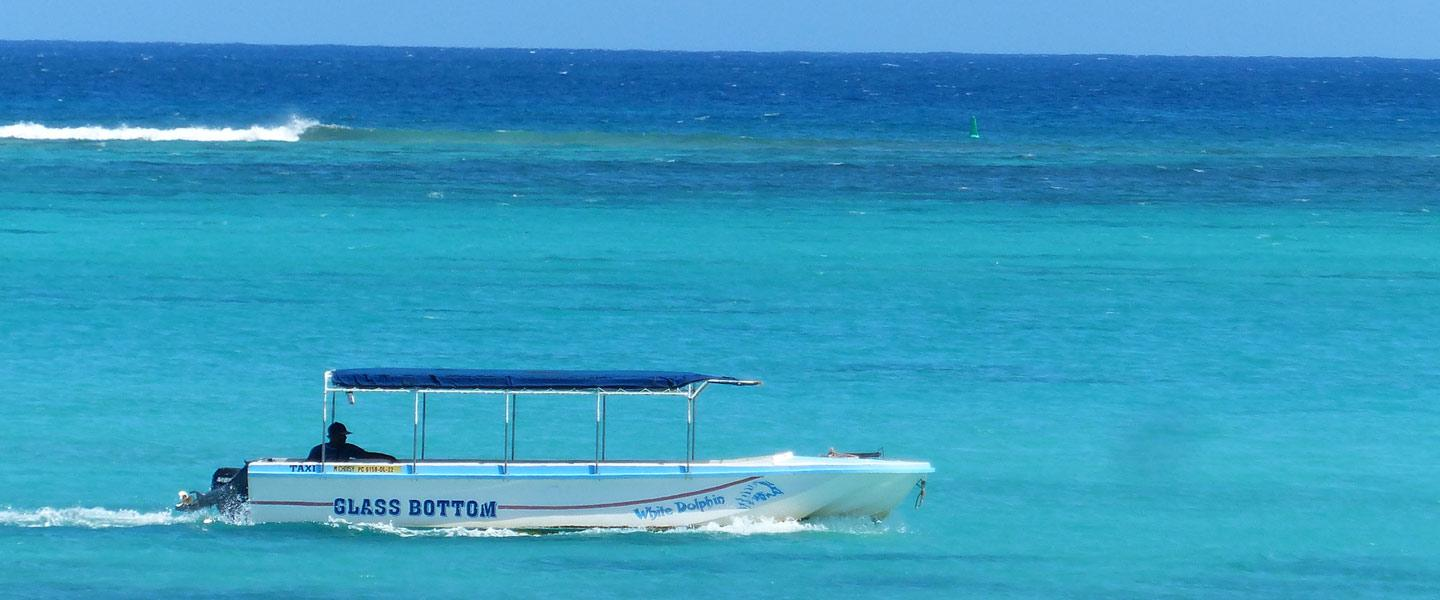 glass bottom boat in mauritius