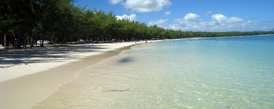 mont choisy beach view in north of mauritius